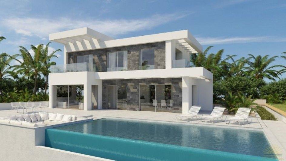 Proyecto de villa moderna en j vea ref c 7207 calablanca for Casa moderna javea